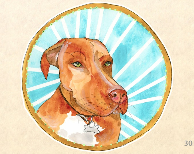 Dog Sticker Labrador Sticker Lab Pitt Mix Cute Animal Sticker Cute Dog Sticker Laptop Sticker Water Bottle Sticker Scrapbooking Sticker