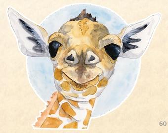 Giraffe Sticker, Cute Animal Stickers, Wildlife Stickers, African Animal Stickers, Laptop - Water Bottle - Scrapbooking, Macbook Decal