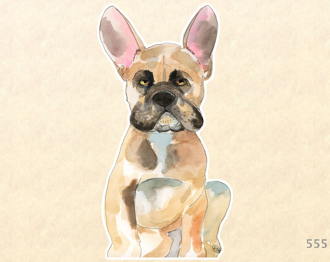 Dog Stickers, French Bull Dog Stickers, Cute Dog Stickers, Cute Animal Stickers, Laptop Stickers, Water Bottle Stickers