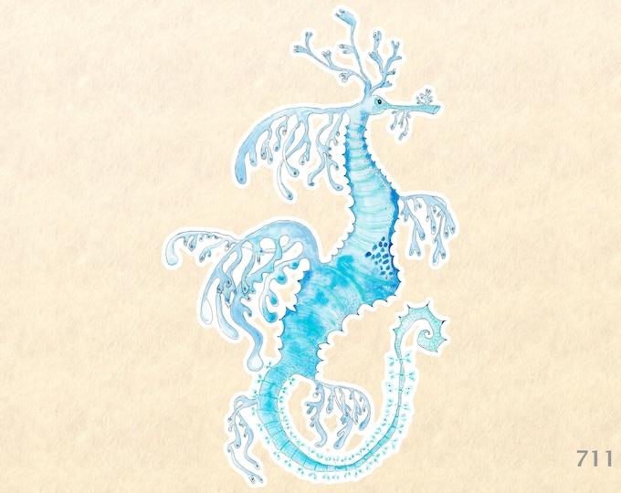 Sea Horse Sticker Sea Life Sticker Beach Sticker Nautical Sticker Laptop Sticker Water Bottle Sticker Decorative Sticker Blue Sea Horse