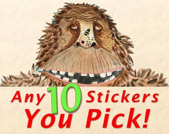Sticker Pack - Choose Any 10 Stickers, Fun Stickers, Cute Stickers, Wildlife Stickers, You Pick