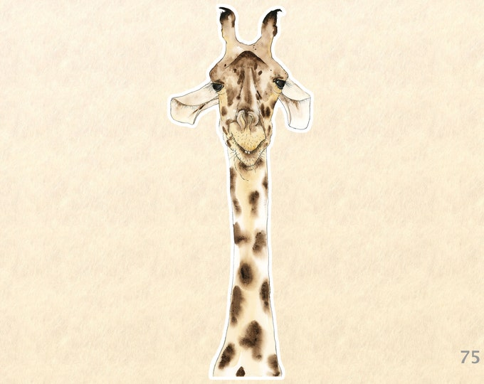 Giraffe Stickers, Fun Animal Stickers, Wildlife Stickers, Goofy Animal Stickers, Water Bottle Stickers, Scrapbook Stickers