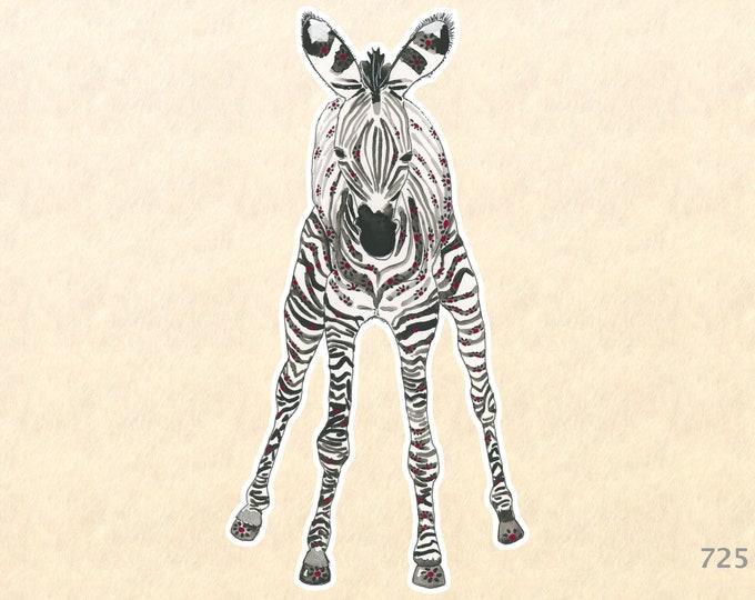 Baby Zebra Sticker Cute Baby Animals Cute Animal Sticker Wildlife Sticker African Animal Sticker Laptop Water Bottle Scrapbooking