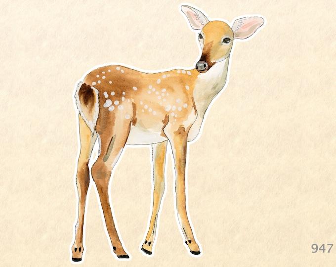 Fawn Sticker Deer Sticker Forest Animals Baby Animals Macbook Pro Touchpad Sticker Scrapbook Sticker Laptop Computer Sticker Shiny Sticker