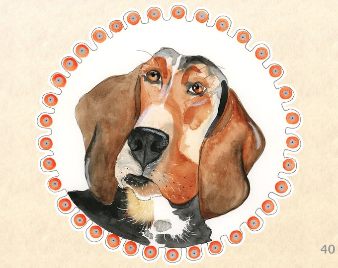 Dog Stickers, Beagle Stickers, Cute Dog Stickers, Laptop Stickers, Water Bottle Stickers, Scrapbooking Stickers, Macbook Decal