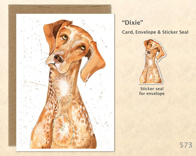 Dog Card Pointer Card Pointer Mix German Short Hair Pointer Short Haired Pointer Fun Dog Cards Blank Note Card Art Card Greeting Cards