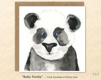 Baby Panda Note Card Baby Animal Card Panda Card Cute Animal Card Baby Gift Cute Baby Animals Blank Note Card Art Card Greeting Card