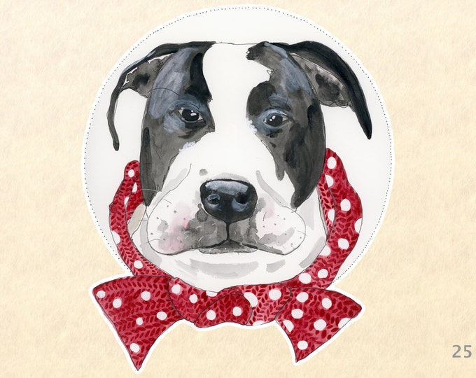 Dog Sticker, Pit Bull Stickers, Mastiff Stickers, Fun Animal Stickers, Laptop Stickers, Water Bottle, Scrapbook Stickers, Macbook Decal