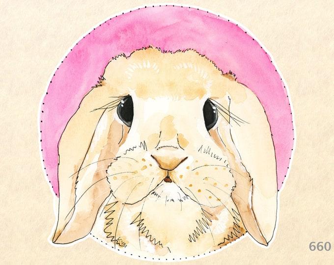 Rabbit Stickers, Bunny Stickers, Cute Animal Stickers, Easter Stickers, Baby Animal Stickers, Water Bottle Stickers, Scrapbook Stickers