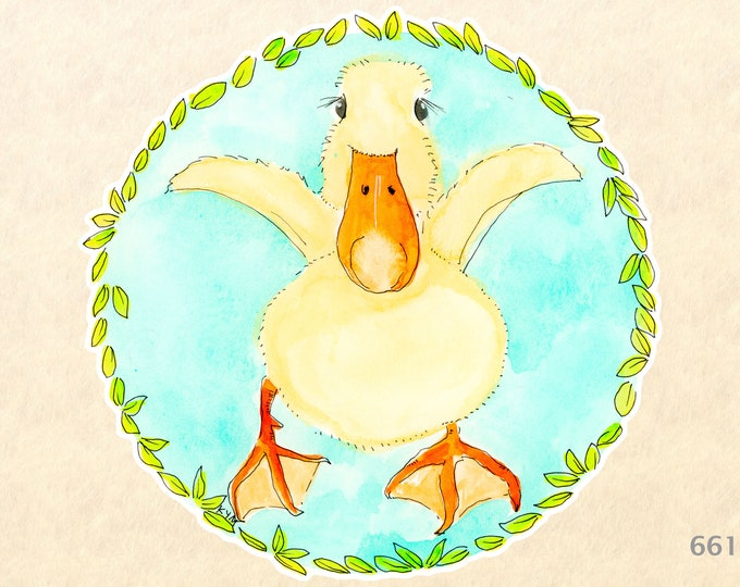 Duck Stickers, Baby Animal Stickers, Cute Animal Stickers, Laptop Stickers,  Water Bottle Stickers, Scrapbook Stickers, Macbook Decal