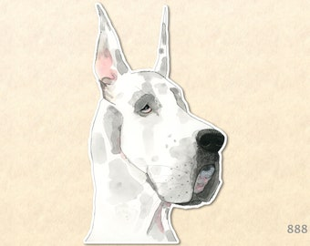 Dog Stickers, Great Dane Sticker, Cute Animal Stickers, Fun Animal Stickers,  Water Bottle Sticker, Scrapbook Stickers, Macbook Decal