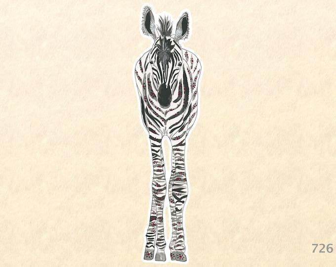 Baby Zebra Sticker Cute Animal Sticker Cute Zebra Sticker Wildlife Sticker African Animal Sticker Laptop Water Bottle Scrapbooking