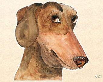 Dog Sticker, Dachshund Stickers, Cute Animal Stickers, Cute Dog Sticker, Laptop Stickers, Water Bottle Stickers, Scrapbooking Stickers