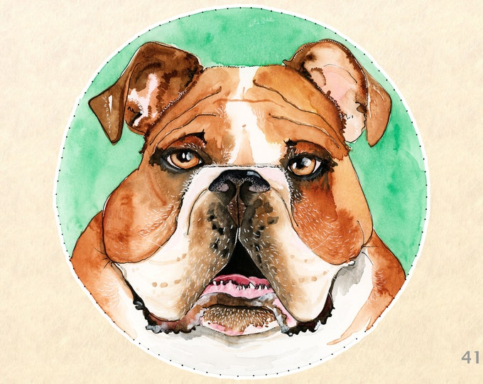 Dog Stickers, Bulldog Stickers, Cute Animal Stickers, Laptop Stickers, Water Bottle Stickers, Scrapbooking Stickers, Macbook Decal