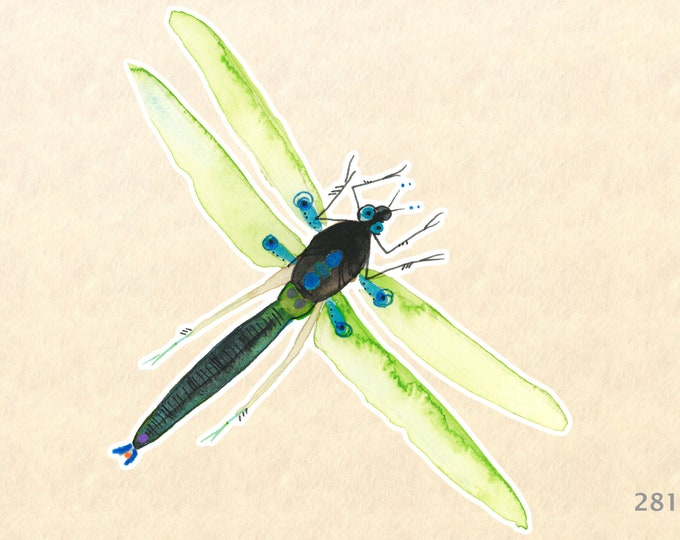 Dragonfly Sticker Garden Sticker Gardening Sticker Insect Sticker Decorative Sticker Water Bottle Sticker Scrapbooking Sticker Macbook Decal