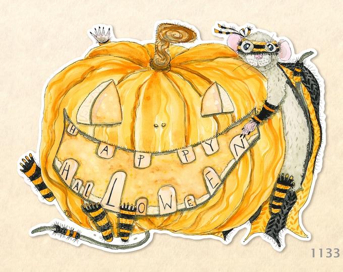 Happy Halloween Jack O' Landern Sticker