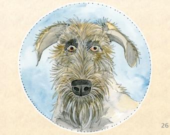 Irish Wolfhound Dog Sticker Fun Animal Sticker Cute Animal Sticker Water Bottle Sticker Scrapbook Stickers