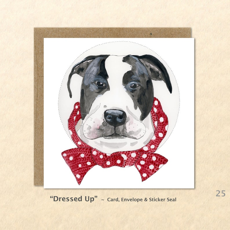 Pit Bull Cards Mastiff Cards Dog Cards Cute Dog Cards Dog image 0