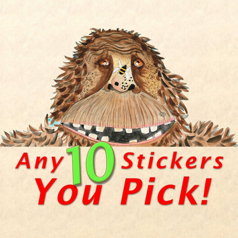 Sticker Pack  Choose Any 10 Stickers Fun Stickers Cute image 0