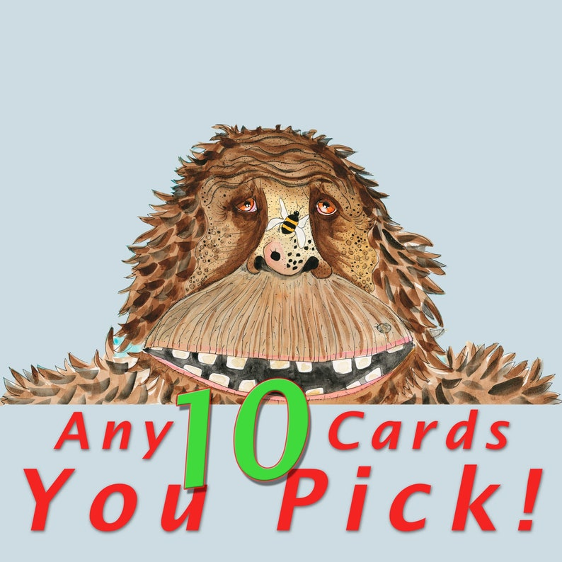 Blank Note Card 10 Pack Your Choice  Choose Any 10 Cards image 0