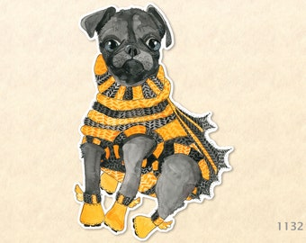 Puppy Dressed and Ready for Halloween Sticker
