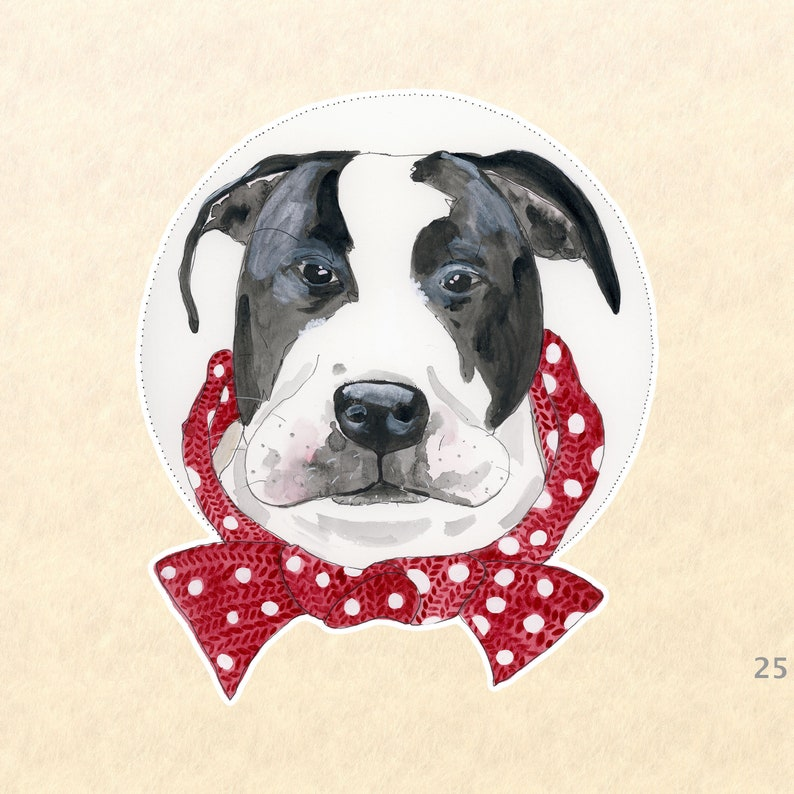 Dog Sticker Pit Bull Stickers Mastiff Stickers Fun Animal image 0