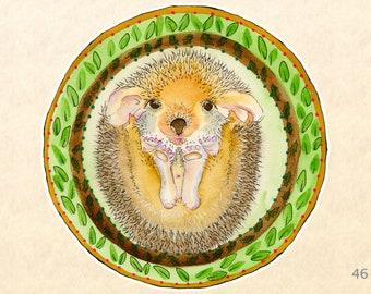 Hedgehog Sticker, Baby Animal Stickers, Cute Animal Stickers, Fun Animal Stickers, Water Bottle Stickers, Scrapbooking Stickers