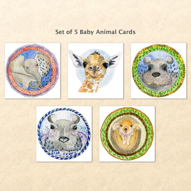 Baby Animal Cards Cute Animal Babies Fun Animals Baby image 0