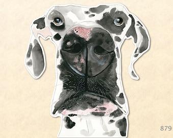 Dog Sticker Great Dane Sticker Cute Animal Sticker Fun Animal Sticker  Water Bottle Sticker Scrapbook Sticker Macbook Decal Watercolor Art