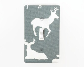 Deer Light Switch Cover - Woodland Switch Plate Cover - Woodland Nursery