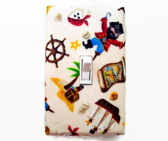 Pirate Light Switch Cover - Pirates Switch Plate - Boys Bedroom Decor