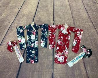 Kimono for Takara Blythe, Neo Blythe, Pullip, Azone, Momoko, Obitsu, Pure Neemo or similar size doll