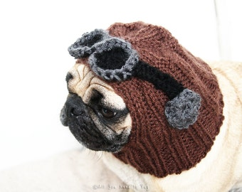 All You Need is Pug® Aviator Dog Hat - Pug Hat - Pug Clothing - Dog Clothing - Dog Christmas Gift - Gift for Pet Lovers