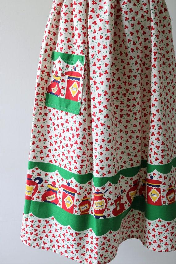 1950s Novelty Print Cotton Skirt - image 5