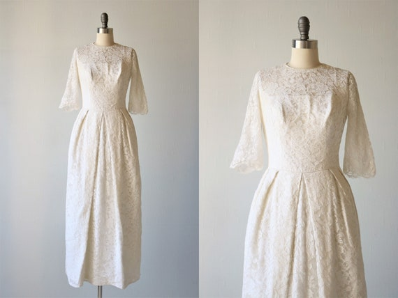Vintage Wedding Dresses 1960s Sheath Lace William