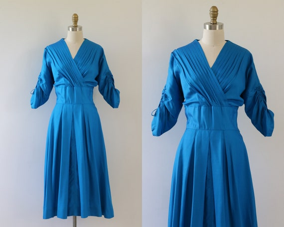1950s Dress Royal Blue Special Event Dress
