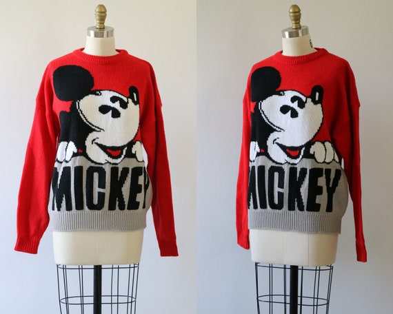 Vintage 90s Mickey Mouse Sweater Unisex Mickey and