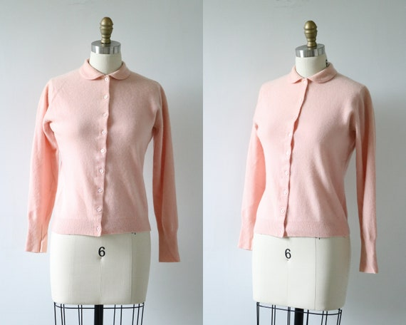 Pink Cardigan Sweater Cashmere Button Down Sweater