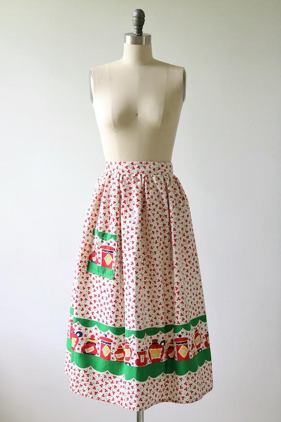 1950s Novelty Print Cotton Skirt - image 2