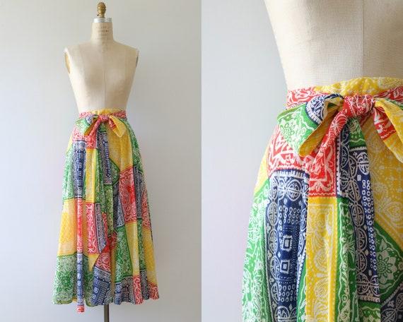 Bohemian Boho Festival Skirt Hippie Skirt Maxi Ski