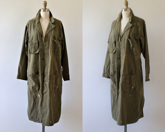 Mechanic Machinist Coat 1930s 1940s Coverall Smock