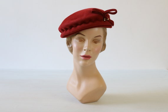 Red Beret Hat 1960s