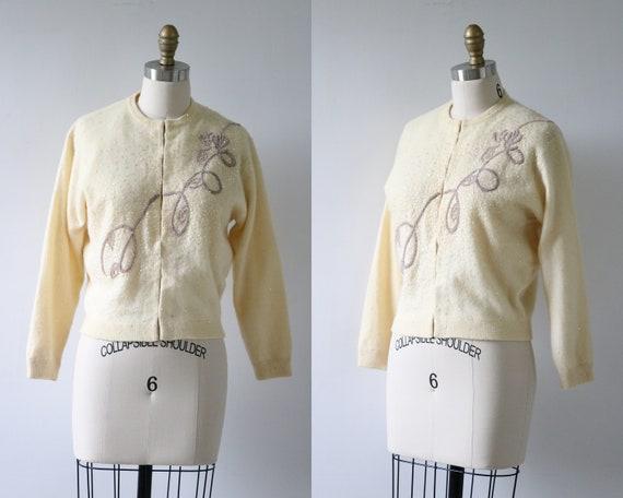 Cardigan Sweater Beaded Cashmere Cream Wedding Bri