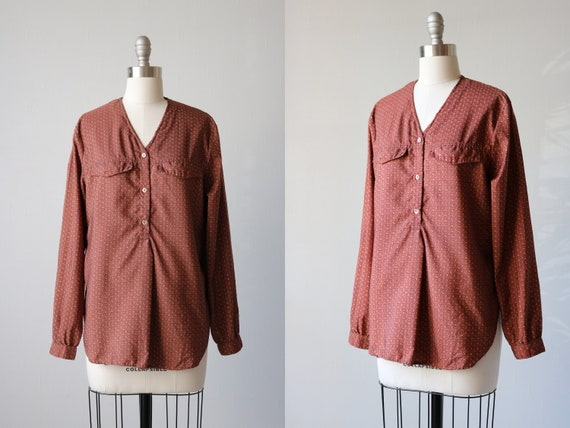 Peasant Blouse 1970s Size Small S