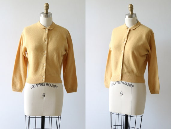1950s Cardigan Sweater Cashmere Button Down Sweate