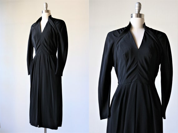 Vintage 1940s Avant Garde Black Dress