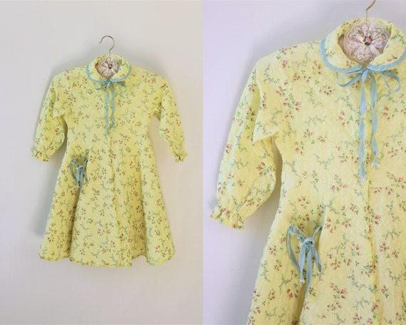 Vintage Girl Toddler Robe Dressing Gown