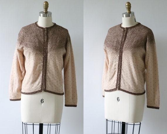 Cardigan Sweater Beaded Cashmere Mocha Wedding Bri