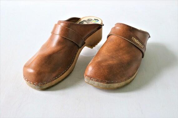 Vintage 1970s Clogs Strovels Size 11.5