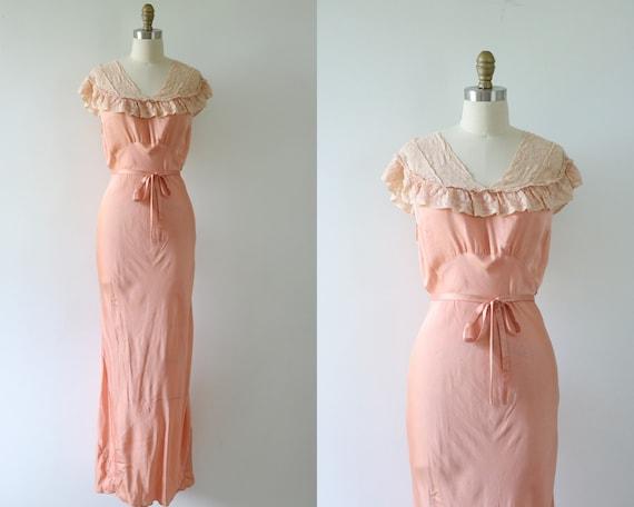 Vintage 1940s Bias Cut Nightgown Lingerie 40s Slip